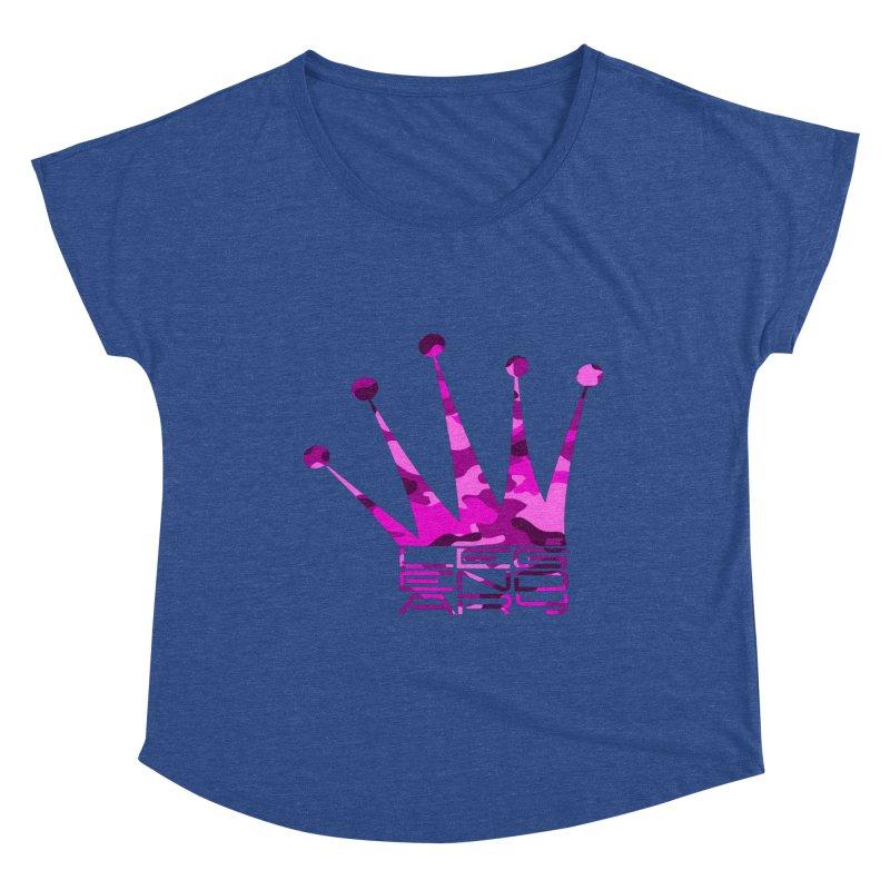 Legendary Crown - Pink Camo Edition Women's Dolman Scoop Neck by uniquego's Artist Shop