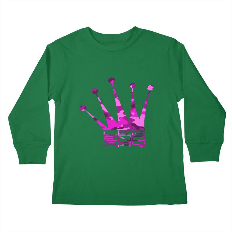 Legendary Crown - Pink Camo Edition Kids Longsleeve T-Shirt by uniquego's Artist Shop