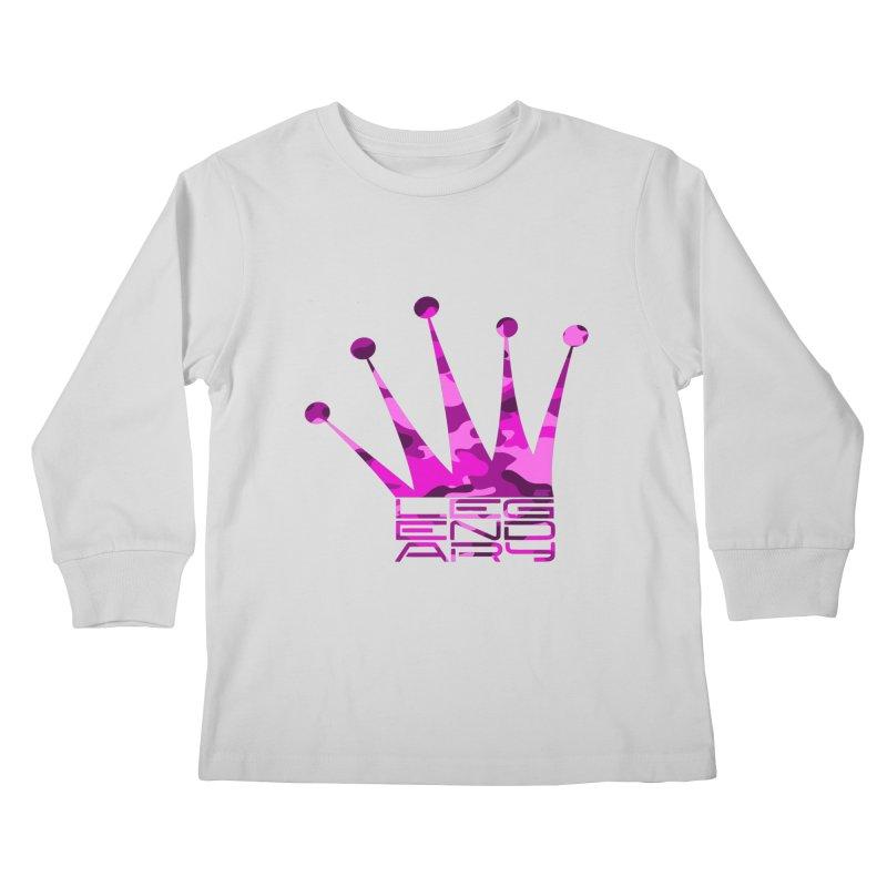 Legendary Crown - Pink Camo Edition Kids Longsleeve T-Shirt by uniquego's Artist Shop