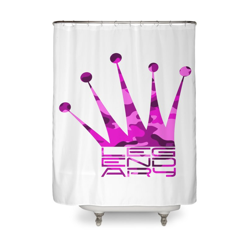 Legendary Crown - Pink Camo Edition Home Shower Curtain by uniquego's Artist Shop