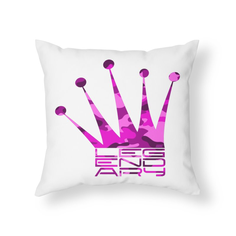 Legendary Crown - Pink Camo Edition Home Throw Pillow by uniquego's Artist Shop