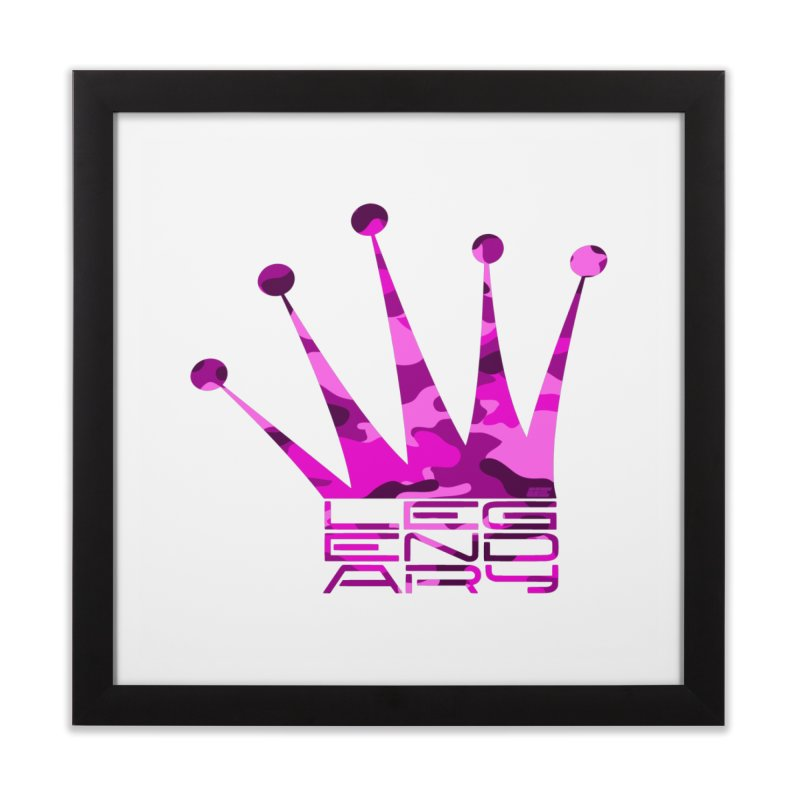 Legendary Crown - Pink Camo Edition Home Framed Fine Art Print by uniquego's Artist Shop