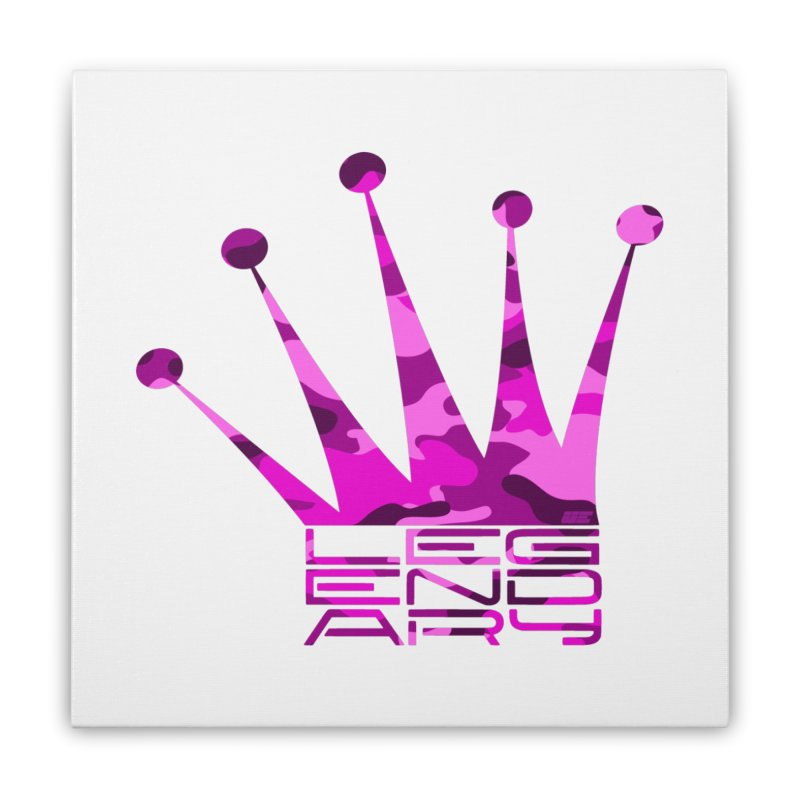 Legendary Crown - Pink Camo Edition Home Stretched Canvas by uniquego's Artist Shop