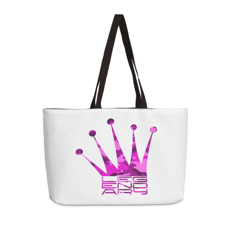 Legendary Crown - Pink Camo Edition Accessories Weekender Bag Bag by uniquego's Artist Shop