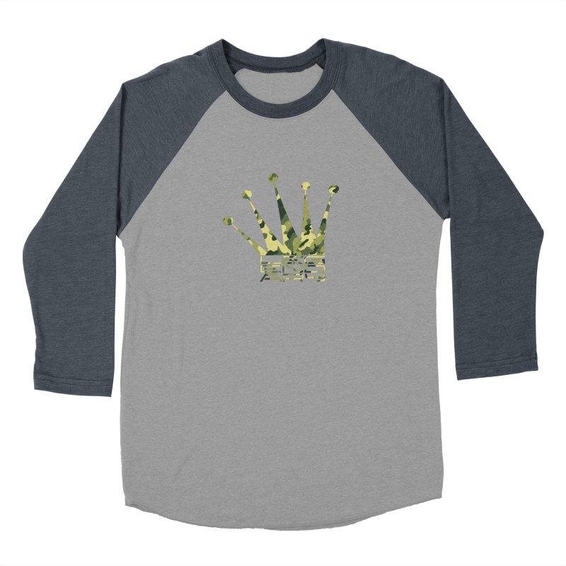 Legendary Crown - Camo Edition Men's Baseball Triblend Longsleeve T-Shirt by uniquego's Artist Shop
