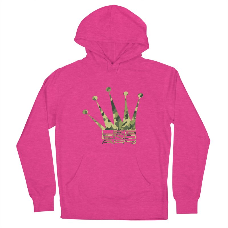 Legendary Crown - Camo Edition Women's French Terry Pullover Hoody by uniquego's Artist Shop