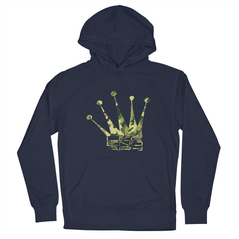 Legendary Crown - Camo Edition Men's French Terry Pullover Hoody by uniquego's Artist Shop