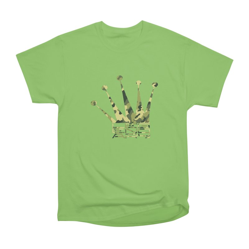 Legendary Crown - Camo Edition Women's Heavyweight Unisex T-Shirt by uniquego's Artist Shop