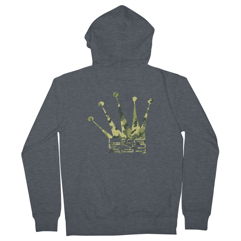 Legendary Crown - Camo Edition Men's French Terry Zip-Up Hoody by uniquego's Artist Shop