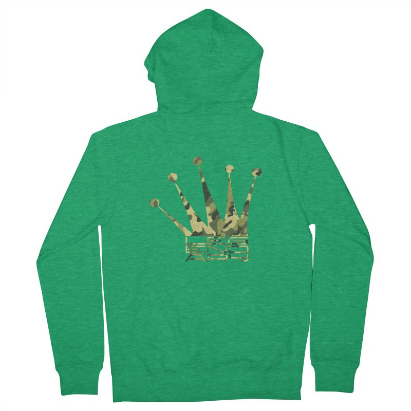Legendary Crown - Camo Edition Men's Zip-Up Hoody by uniquego's Artist Shop