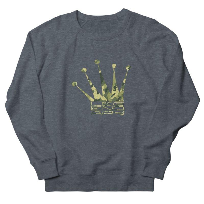 Legendary Crown - Camo Edition Men's French Terry Sweatshirt by uniquego's Artist Shop