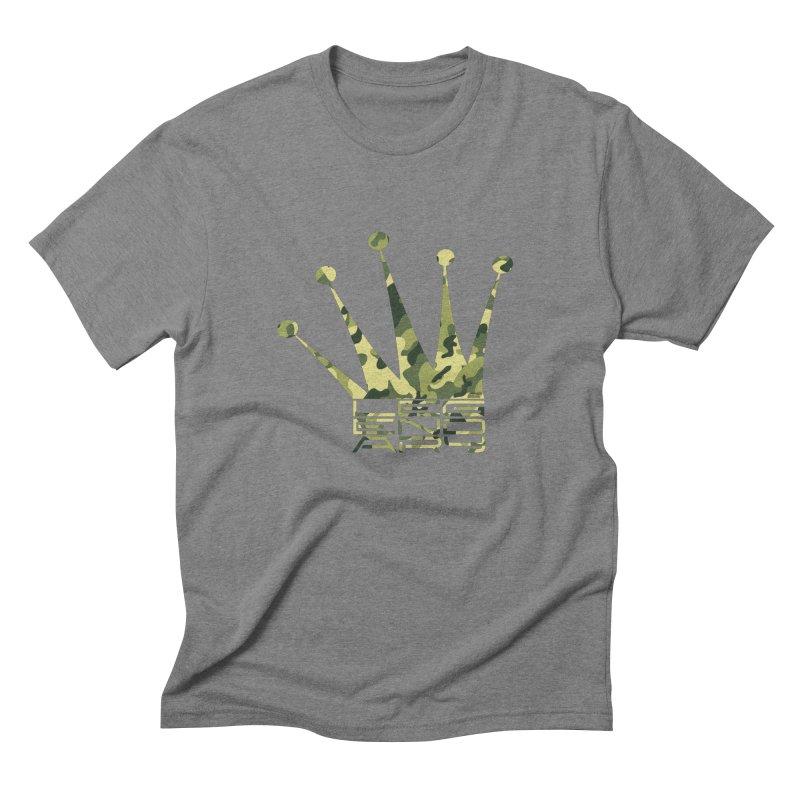 Legendary Crown - Camo Edition Men's Triblend T-Shirt by uniquego's Artist Shop