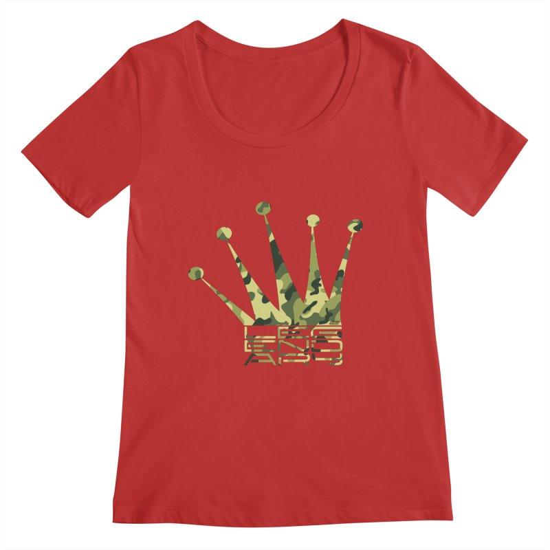 Legendary Crown - Camo Edition Women's Regular Scoop Neck by uniquego's Artist Shop