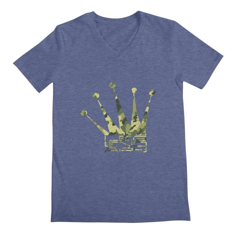 Legendary Crown - Camo Edition Men's V-Neck by uniquego's Artist Shop