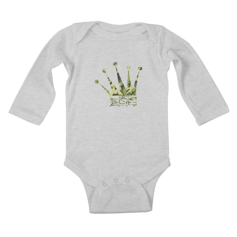 Legendary Crown - Camo Edition Kids Baby Longsleeve Bodysuit by uniquego's Artist Shop