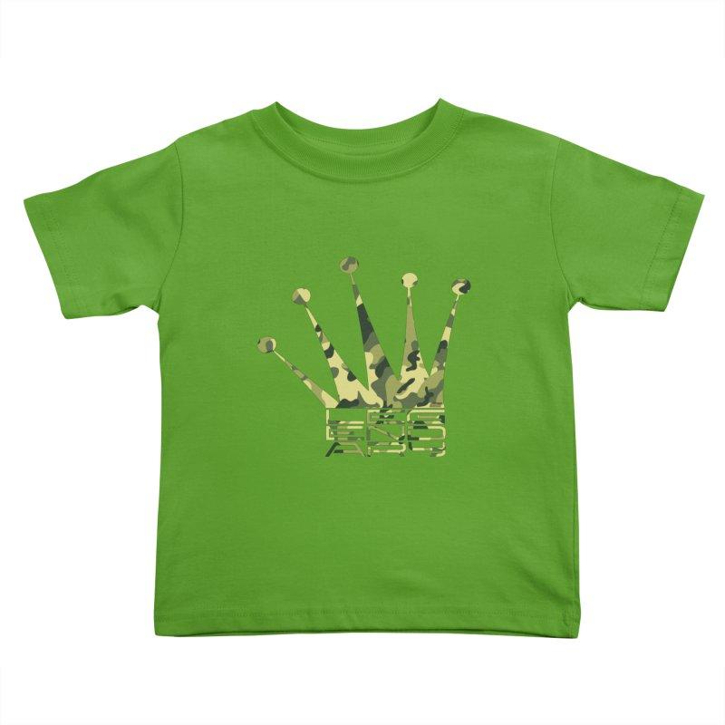 Legendary Crown - Camo Edition Kids Toddler T-Shirt by uniquego's Artist Shop