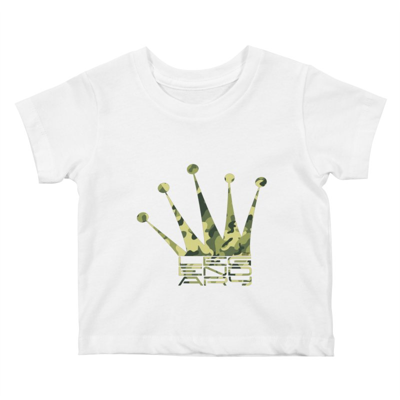 Legendary Crown - Camo Edition Kids Baby T-Shirt by uniquego's Artist Shop