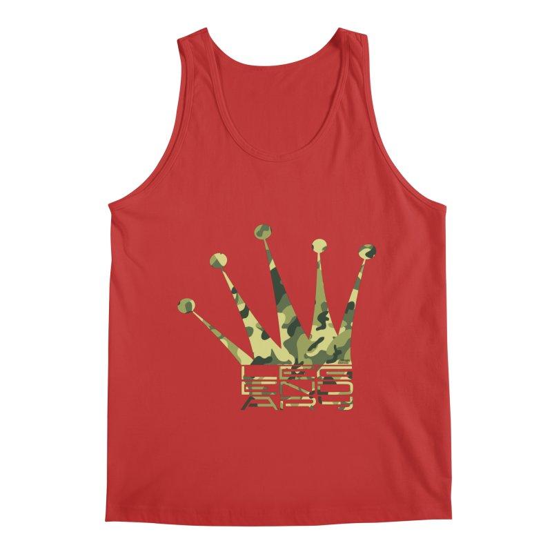 Legendary Crown - Camo Edition Men's Regular Tank by uniquego's Artist Shop
