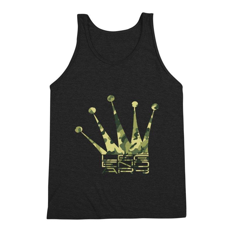 Legendary Crown - Camo Edition Men's Triblend Tank by uniquego's Artist Shop