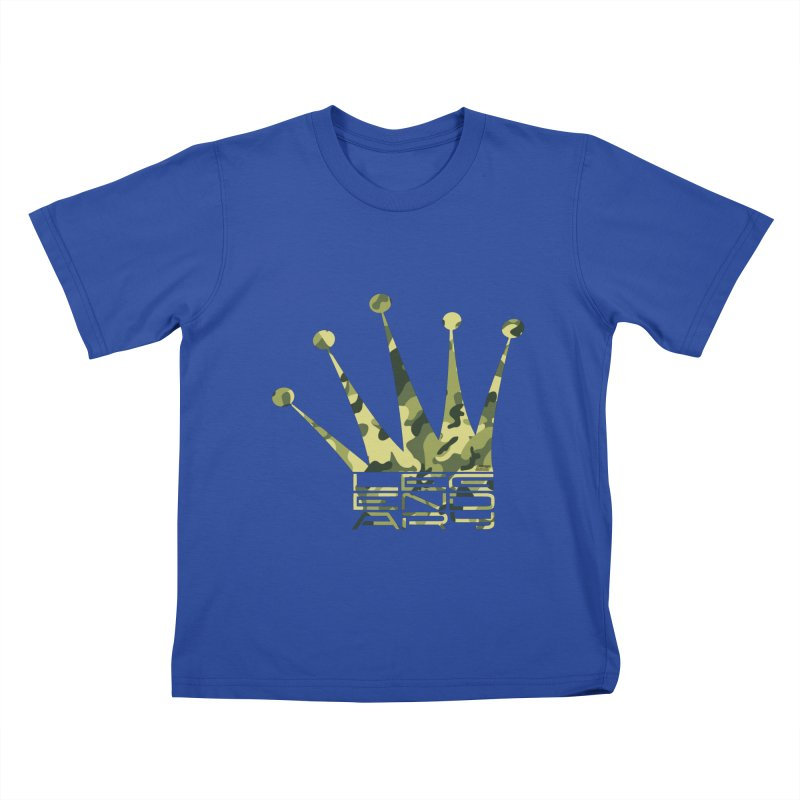 Legendary Crown - Camo Edition Kids T-Shirt by uniquego's Artist Shop