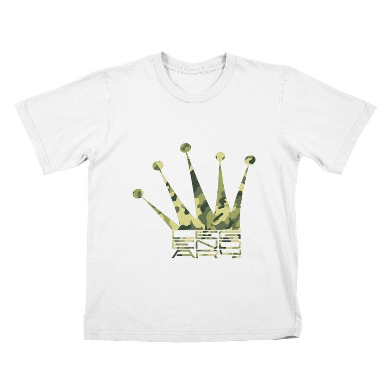 Legendary Crown - Camo Edition Kids T-Shirt by uniquego's Artist Shop