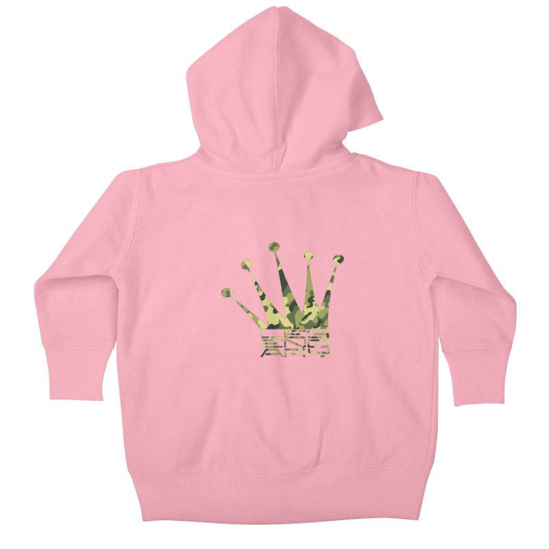 Legendary Crown - Camo Edition Kids Baby Zip-Up Hoody by uniquego's Artist Shop