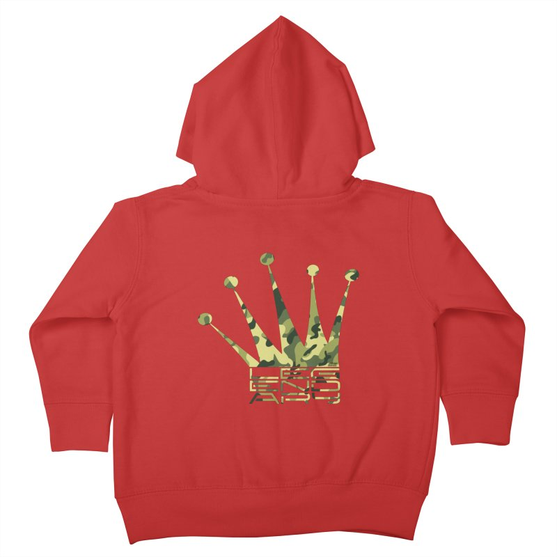 Legendary Crown - Camo Edition Kids Toddler Zip-Up Hoody by uniquego's Artist Shop