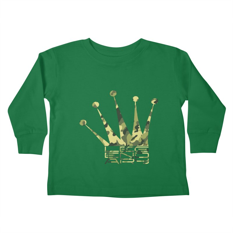 Legendary Crown - Camo Edition Kids Toddler Longsleeve T-Shirt by uniquego's Artist Shop