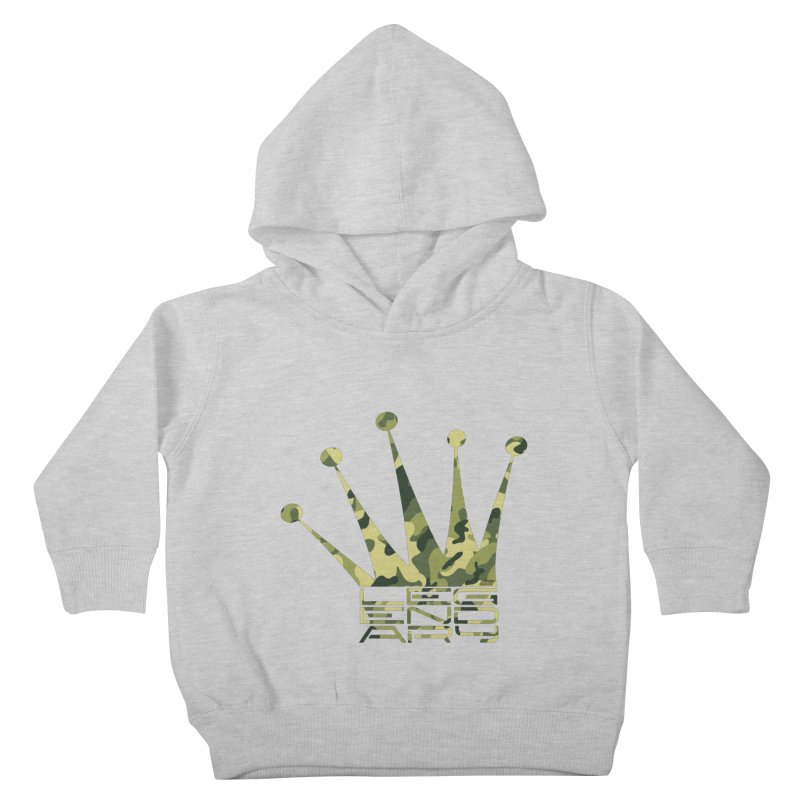 Legendary Crown - Camo Edition Kids Toddler Pullover Hoody by uniquego's Artist Shop