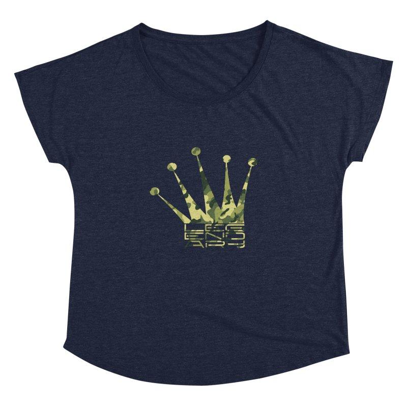 Legendary Crown - Camo Edition Women's Dolman Scoop Neck by uniquego's Artist Shop