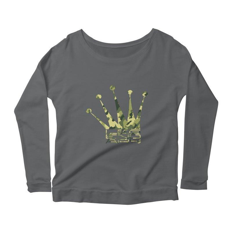 Legendary Crown - Camo Edition Women's Scoop Neck Longsleeve T-Shirt by uniquego's Artist Shop