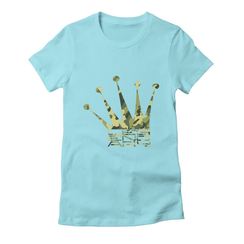 Legendary Crown - Camo Edition Women's Fitted T-Shirt by uniquego's Artist Shop