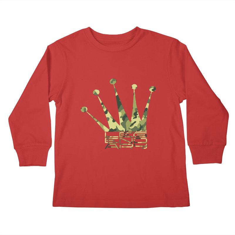 Legendary Crown - Camo Edition Kids Longsleeve T-Shirt by uniquego's Artist Shop