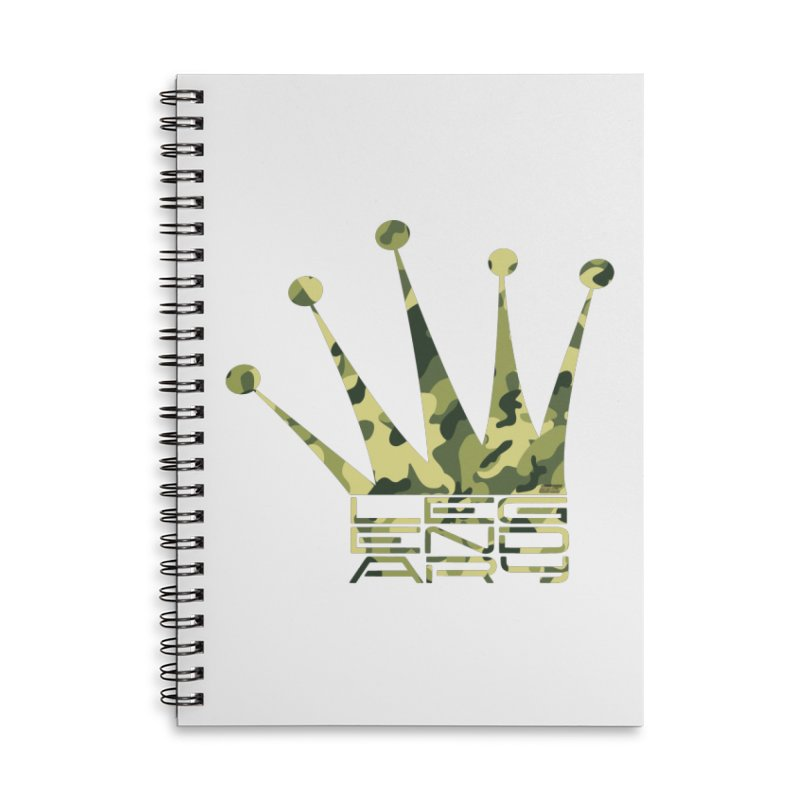 Legendary Crown - Camo Edition Accessories Lined Spiral Notebook by uniquego's Artist Shop