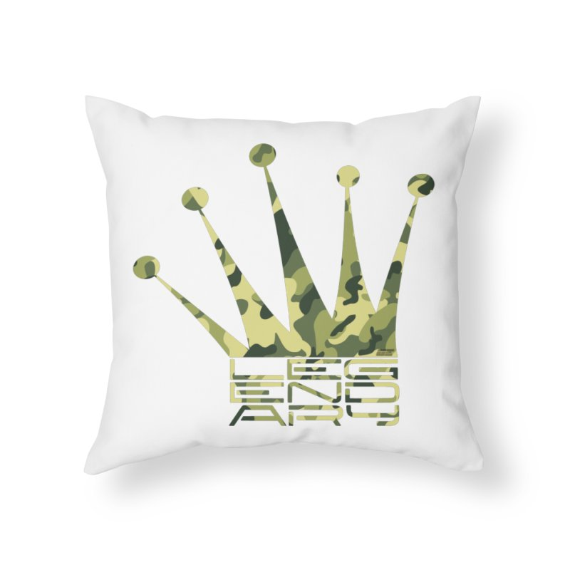 Legendary Crown - Camo Edition Home Throw Pillow by uniquego's Artist Shop