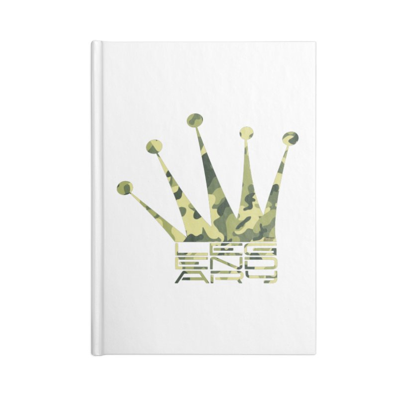 Legendary Crown - Camo Edition Accessories Lined Journal Notebook by uniquego's Artist Shop
