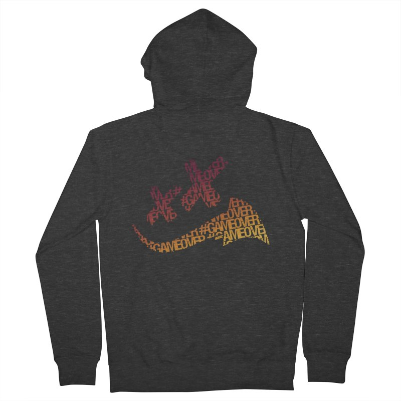 #GameOver Men's French Terry Zip-Up Hoody by uniquego's Artist Shop