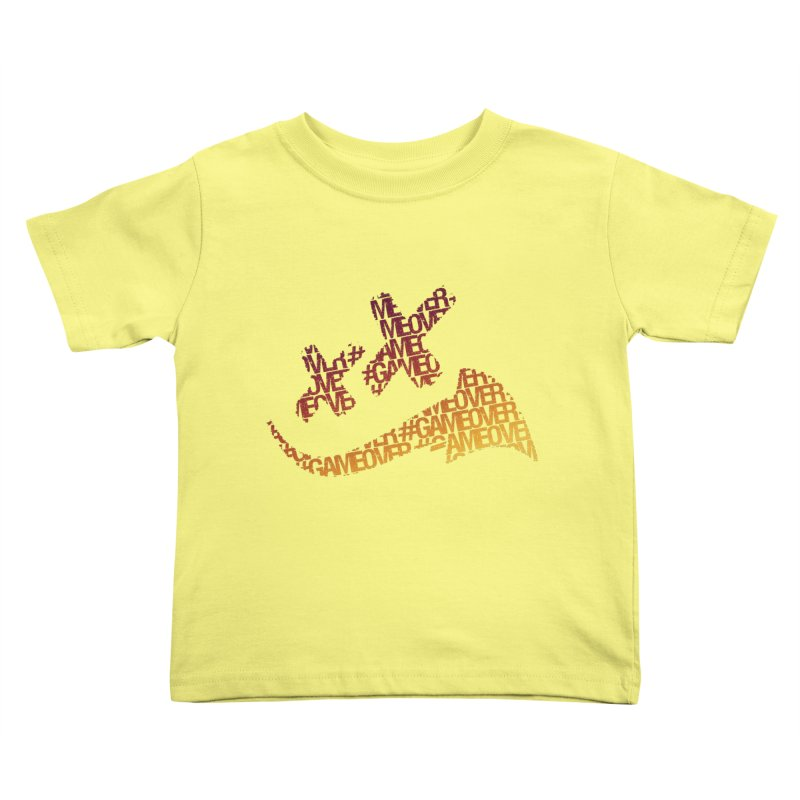 #GameOver Kids Toddler T-Shirt by uniquego's Artist Shop