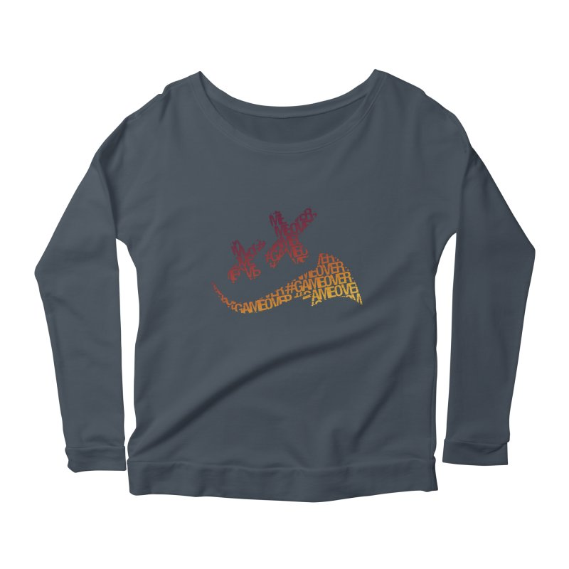 #GameOver Women's Scoop Neck Longsleeve T-Shirt by uniquego's Artist Shop