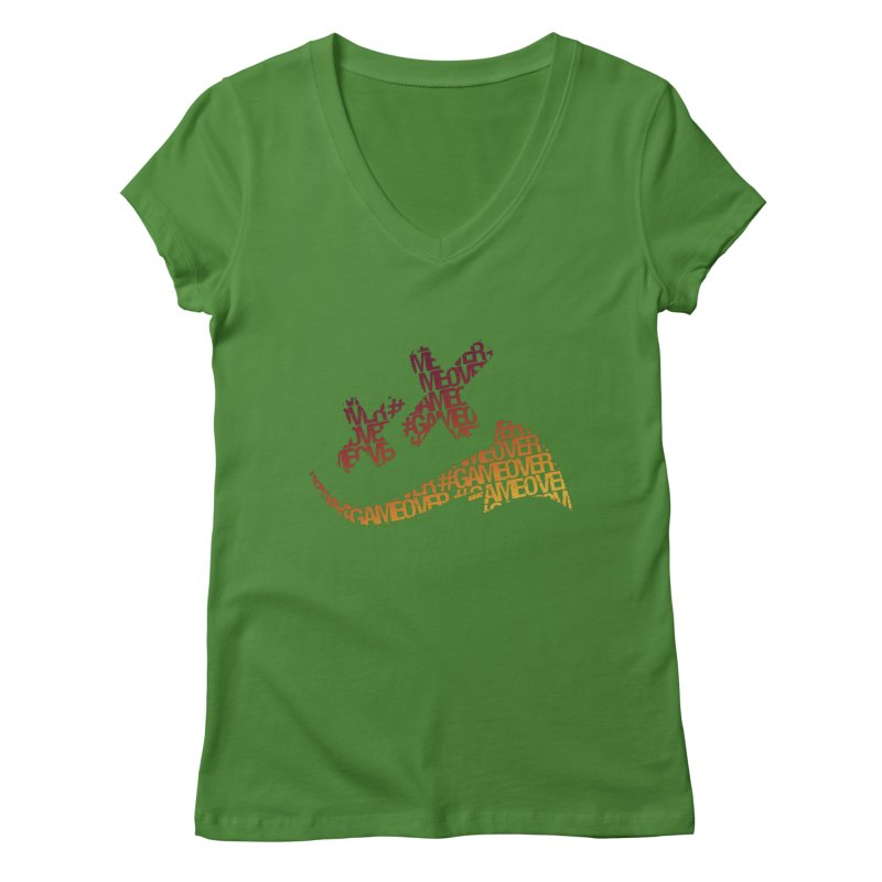 #GameOver Women's Regular V-Neck by uniquego's Artist Shop