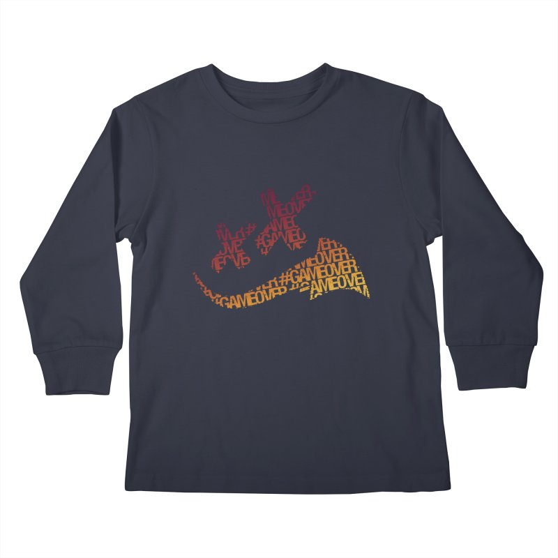 #GameOver Kids Longsleeve T-Shirt by uniquego's Artist Shop