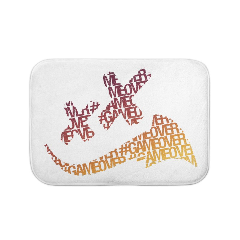 #GameOver Home Bath Mat by uniquego's Artist Shop