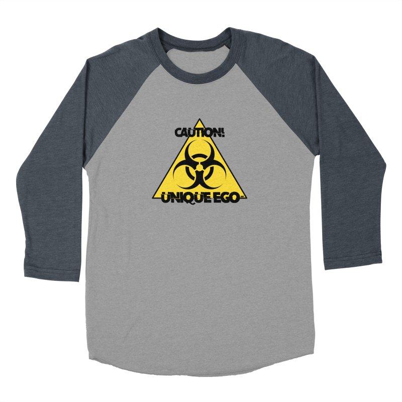 Caution! Unique Ego - The Biohazard Edition Men's Baseball Triblend Longsleeve T-Shirt by uniquego's Artist Shop