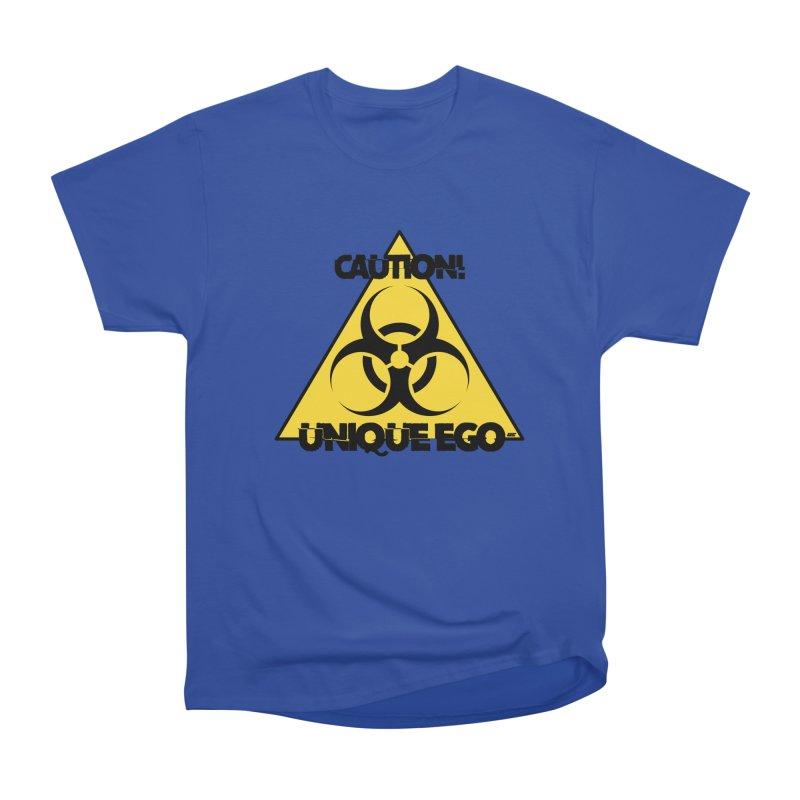 Caution! Unique Ego - The Biohazard Edition Women's Heavyweight Unisex T-Shirt by uniquego's Artist Shop