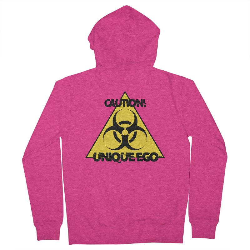 Caution! Unique Ego - The Biohazard Edition Women's French Terry Zip-Up Hoody by uniquego's Artist Shop
