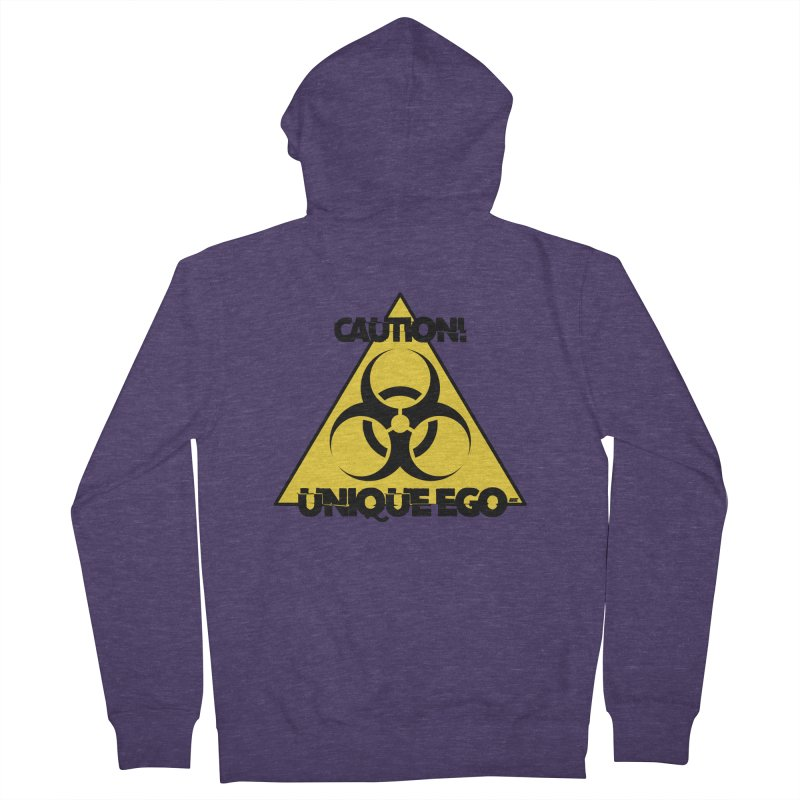 Caution! Unique Ego - The Biohazard Edition Men's French Terry Zip-Up Hoody by uniquego's Artist Shop