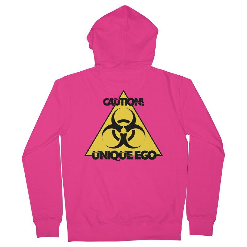 Caution! Unique Ego - The Biohazard Edition Men's Zip-Up Hoody by uniquego's Artist Shop