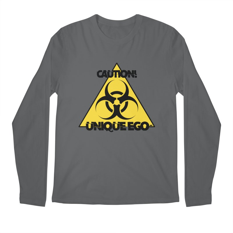 Caution! Unique Ego - The Biohazard Edition Men's Longsleeve T-Shirt by uniquego's Artist Shop