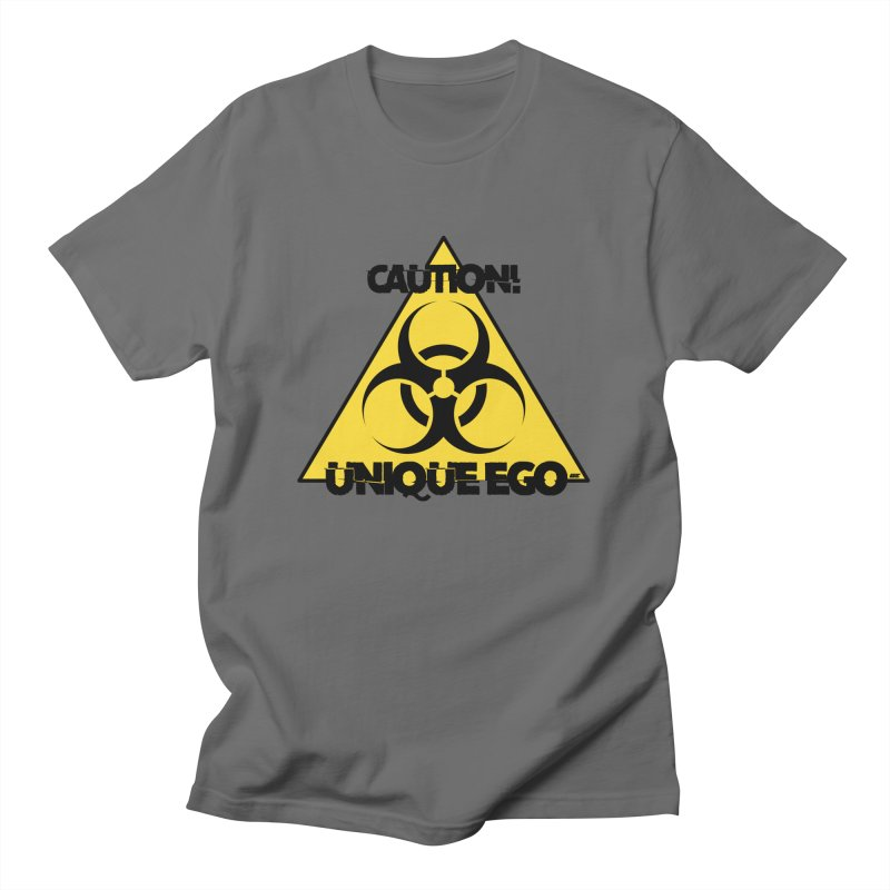 Caution! Unique Ego - The Biohazard Edition Men's T-Shirt by uniquego's Artist Shop