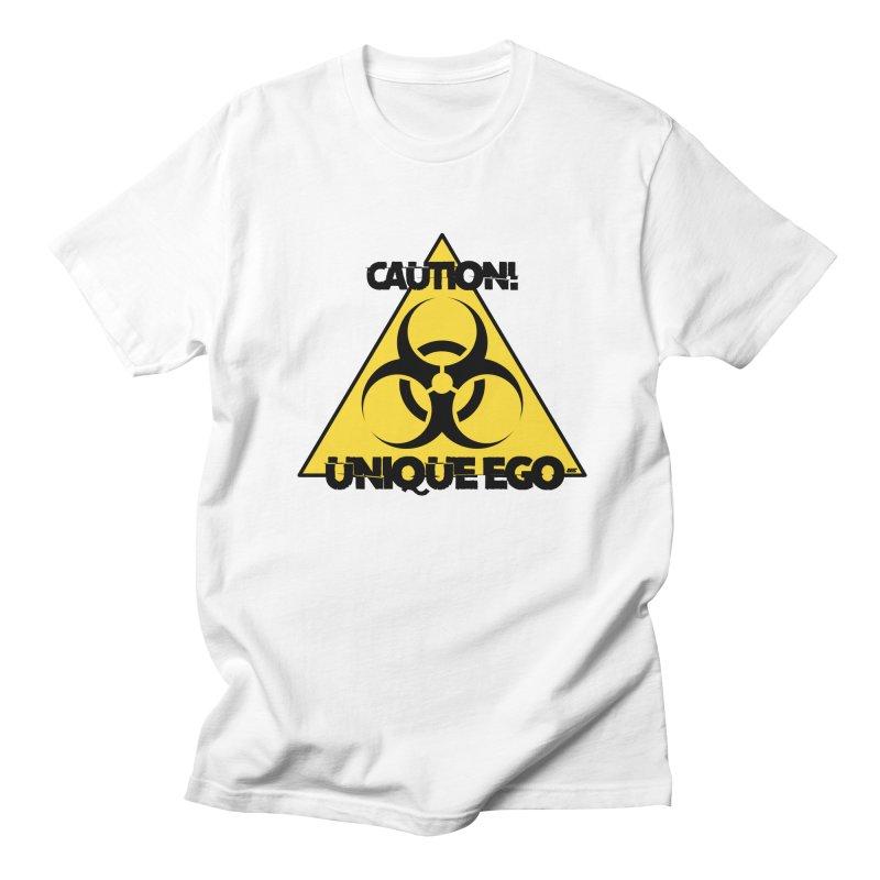 Caution! Unique Ego - The Biohazard Edition Women's Regular Unisex T-Shirt by uniquego's Artist Shop